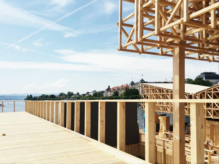 архитектурный проект на озере