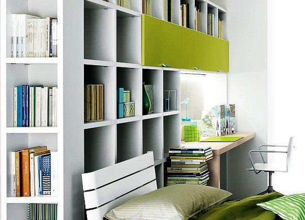 отделка офиса в зелёном цвете