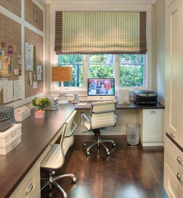 офис с видом на сад