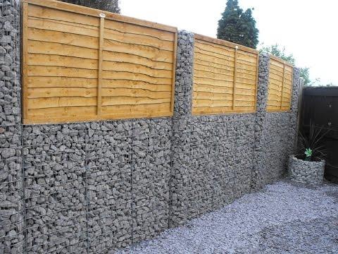 стена габионы