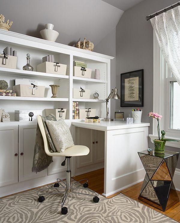 белый кабинет дома
