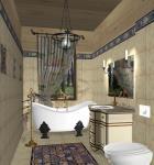Романтический стиль в ванной